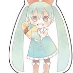 HATSUNE MIKU character key ring setー【chara colle】