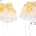 Princess ribbon & lace cufflinks 【Sleeve/ Moe sleeve /Lolita fashion/Accessories】- yellow