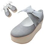 TOKYO BOPPER No.926 / Gray nubuck ribbon shoes