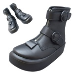 TOKYO BOPPER No.8902 /  Black Smooth belted boots