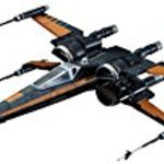 Star and wars X Wing and fighter Poe dedicated aircraft 1 / 72 scale plastic model