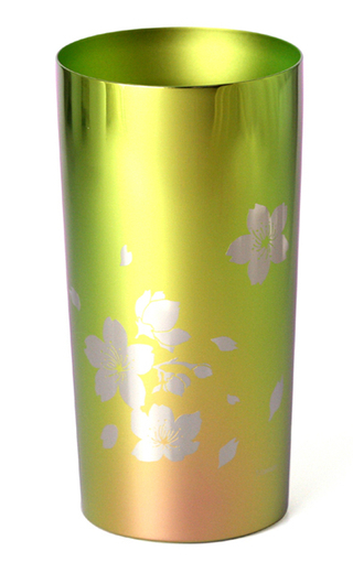 Titanium Double-Wall Tumbler - PREMIUM  (Pastel Cherry)