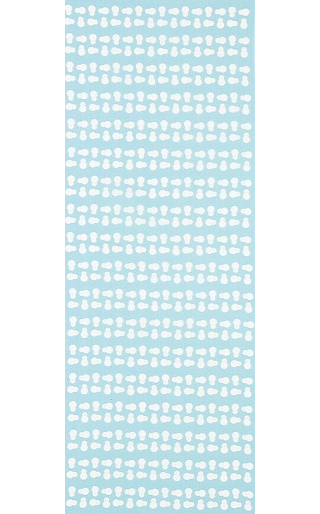 Snowman - Mini Tenugui (Japanese Multipurpose Hand Towel) - Blue