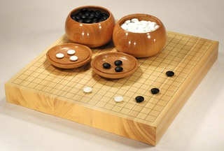 Attractive Size 20 Japanese Hyuga Kaya Table Go Board Set Excellent