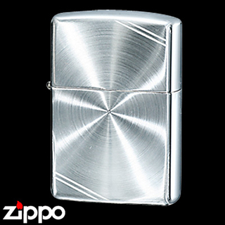 Sterling Silver Zippo - Diamond Cut  (Lines)