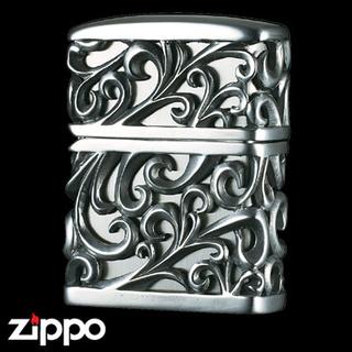 Engraved Zippo - Devil's Jacket  (Oxidized Silver)