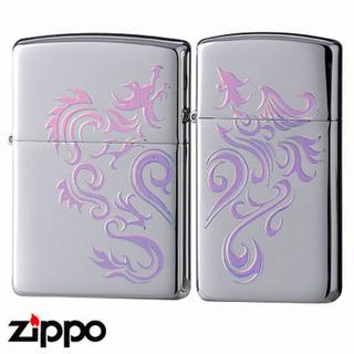 Pair Zippo - Tribal Phoenix