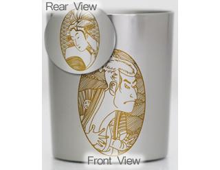 Titanium Shot Glass  (Sharaku & Utamaro)