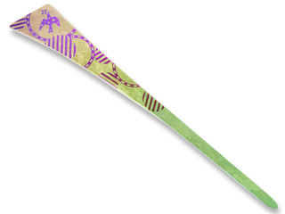 Titanium Hair Stick  (Birds - Green)