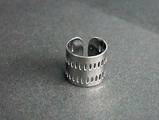 Titanium Ear Cuff  (Exhaust)