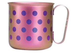 Titanium Mug Cup - Polka Dot  (Light Pink)