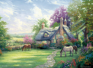 Thomas Kinkade - A Perfect Summer Day 2000 Small Piece Jigsaw Puzzle