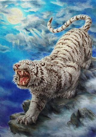 Tiger Roar - Japanese Design 1000 Piece Jigsaw Puzzle