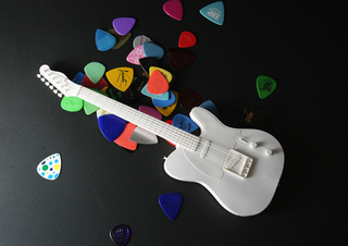 Handson Electric Guitar T Paper Craft Kit Pepakura