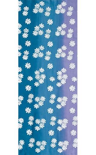Spring Flowers - Tenugui (Japanese Multipurpose Hand Towel) - Blue