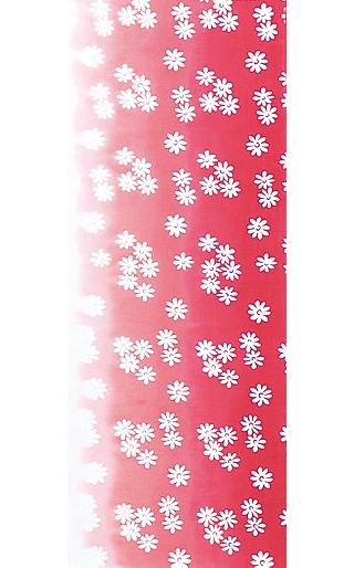 Spring Flowers - Mini Tenugui (Japanese Multipurpose Hand Towel) - Red