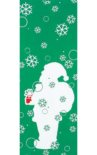 Santa - Mini Tenugui (Japanese Multipurpose Hand Towel)
