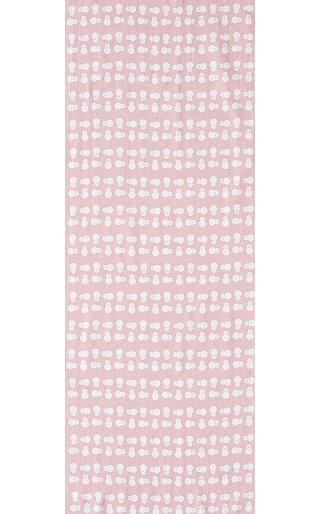 Snowman - Mini Tenugui (Japanese Multipurpose Hand Towel) - Pink
