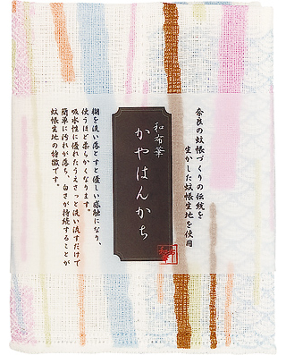 Kaya (Net Fabric) Handkerchief  - Stripes