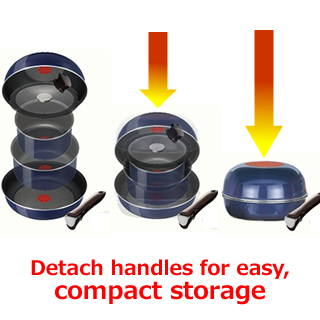 Tefal T Fal Ingenio Stackable Cookware Set Sapphire Midi