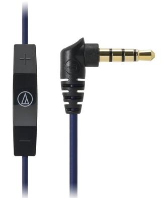 Audio-Technica - ATH-CK400i With mic and remote for iPod/iPhone/iPad (BL)