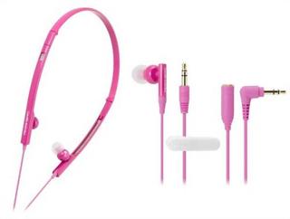 Audio-Technica - ATH-CKP330 Ladies 2-Way Sports Earbuds (PK)