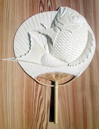 MOTTAINAI Hand Fan (Leaping Bream) W07002