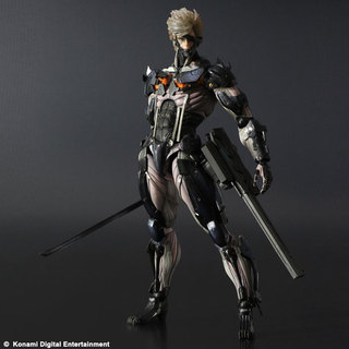 Square Enix Play Arts Kai Metal Gear Rising Revengence Raiden Custom Body Yellow Action Figure