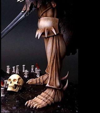 Berserk Skull Knight Birth Ceremony Chapter 1/10 Polystone Statue Bleached bone Colored ver. w/Swarovski Crystal Red Eye
