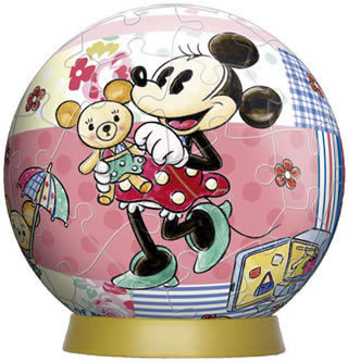 Minnie and Bear 60P 3D Puzzle