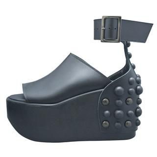TOKYO BOPPER No.437 / Black smooth leather sandal