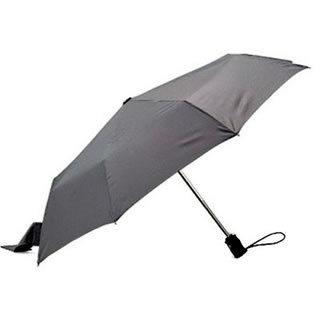 Totes Titanium Rainforce Folding Umbrella (Silver SV21282)