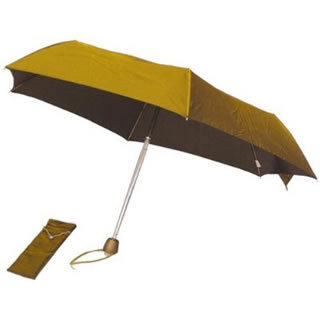 Totes Signature Swarovsky Crystal Folding Umbrella (Passion Gold)