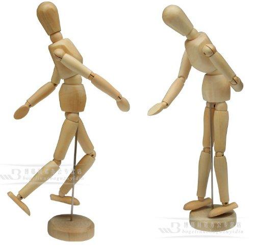 Mississippi] Wood Doll Drawing doll model large 30cm 2 body set