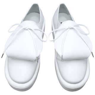 TOKYO BOPPER No.873 / Round-tongue White leather shoes