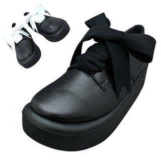 TOKYO BOPPER No.875 /  Black smooth ribbon shoes