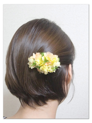 Preserved flower/Hair accessory series/A two-piece set of real hydrangea hair accessory