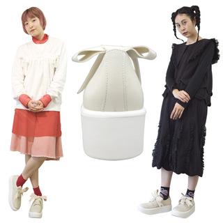 TOKYO BOPPER No.875 /  Ivory smooth ribbon shoes