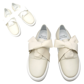 TOKYO BOPPER No.875 /  Ivory smooth ribbon shoes