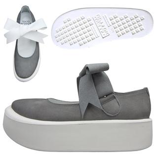 TOKYO BOPPER No.877 /  Gray nubuck ribbon shoes