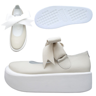 TOKYO BOPPER No.877 /  Ivory smooth ribbon shoes