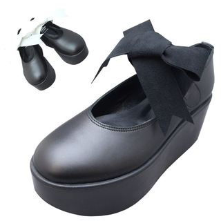 TOKYO BOPPER No.126 / Black smooth ribbon shoes