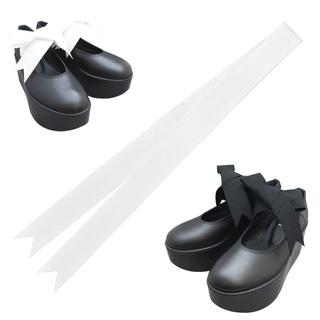 TOKYO BOPPER No.126 / Black smooth ribbon shoes