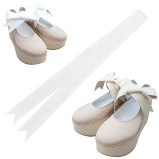 TOKYO BOPPER No.926 / Pink nubuck ribbon shoes