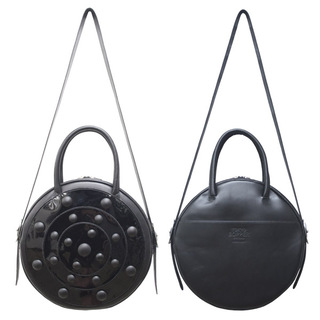 TOKYO BOPPER No.11181/ Real leather Round bag Galaxy  / Black