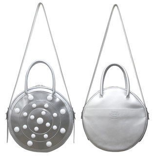 TOKYO BOPPER No.11182/ Real leather Round bag Galaxy  / Silver