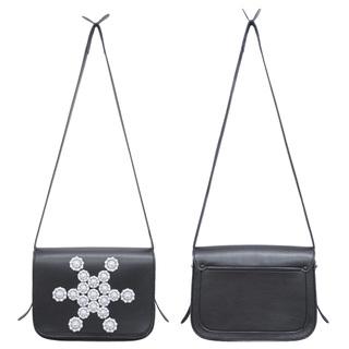 TOKYO BOPPER No.11163/Black with White Bijou Pochette