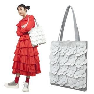 TOKYO BOPPER No.11171/Gray Large flower tote bag