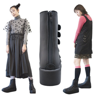 TOKYO BOPPER No.894 /  Black Smooth Belt and button boots