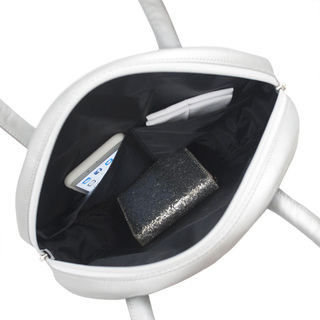 TOKYO BOPPER No.11182A/ Real leather Round handbag Galaxy  / Silver
